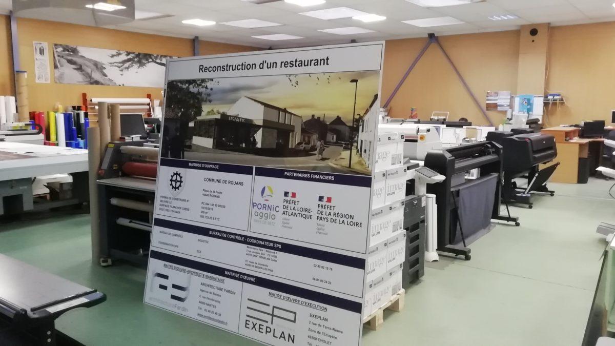 A Rouans le chantier du futur restaurant se prépare
