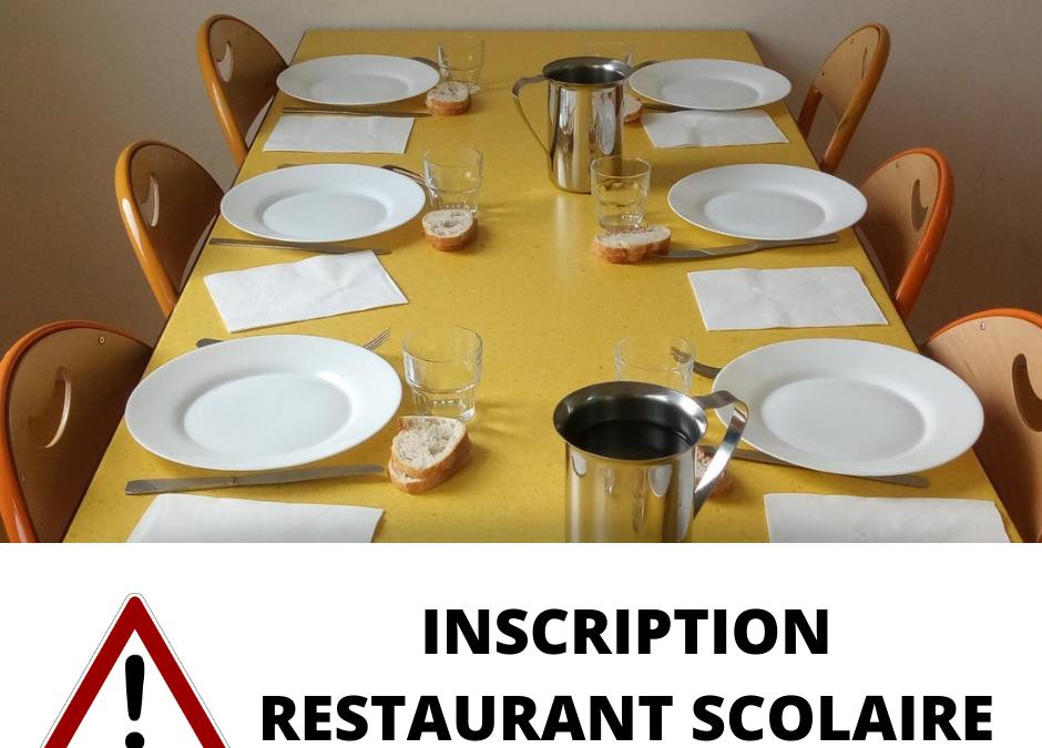 Gestion du restaurant scolaire !